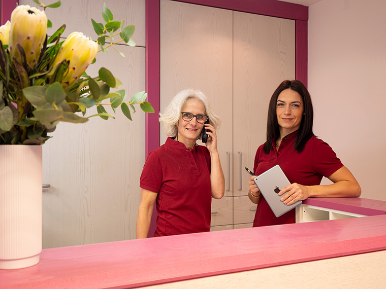 Empfang beim Zahnarzt in Essenbach bei Landshut